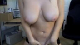 Huge tits blonde lap dance and striptease webcam show